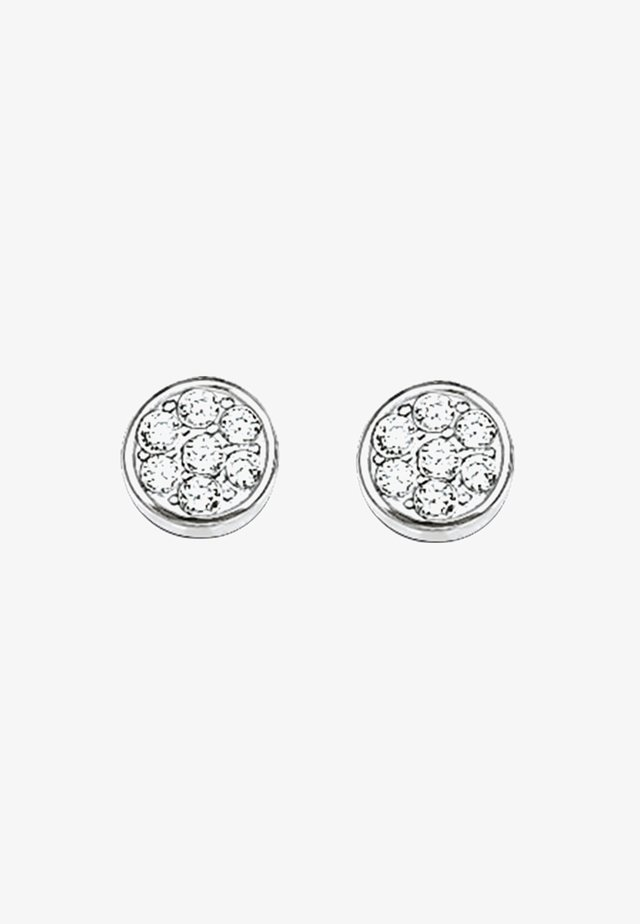 SPARKLING CIRCLES - Earrings - silberfarben/weiß