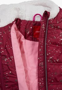s.Oliver - Winter jacket - dark pink aop - 2