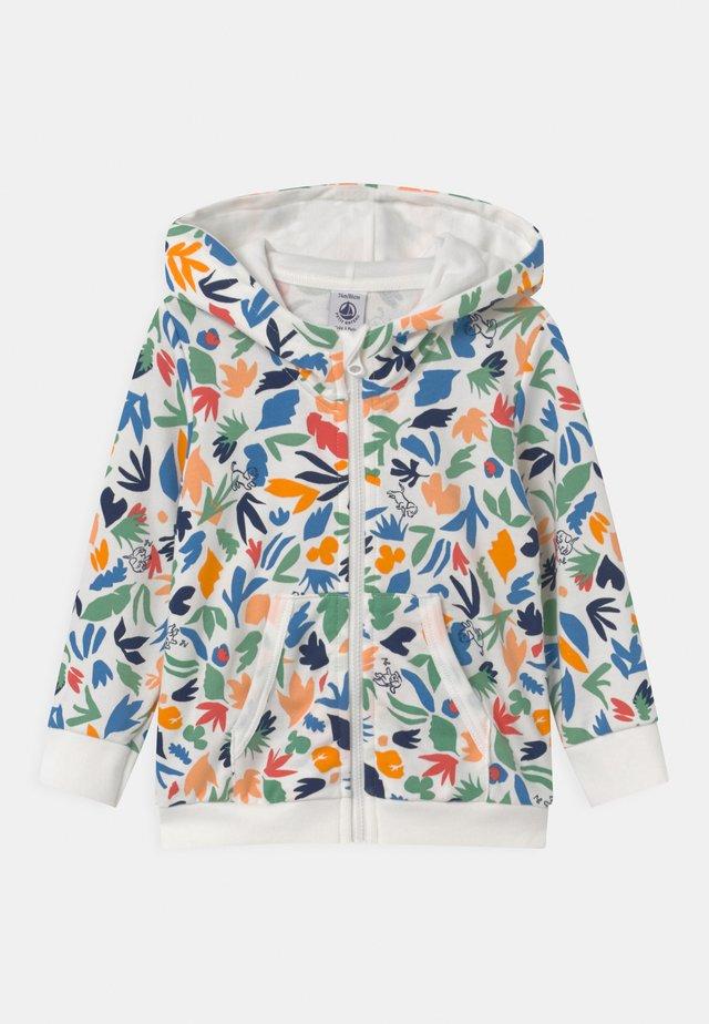 CAPUCHE - veste en sweat zippée - marshmallow