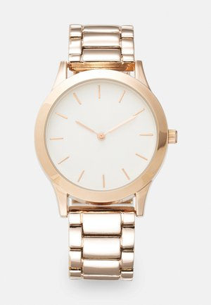 Klocka - rose gold-coloured/white