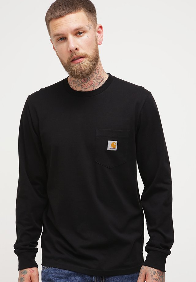 POCKET  - Long sleeved top - black
