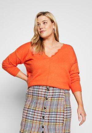 WITH DETAIL - Pullover - knockout orange melange