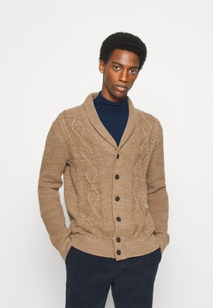 CABLE - Cardigan - camel beige