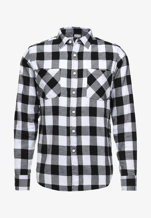 CHECKED SHIRT - Shirt - black/white