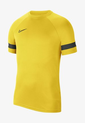 ACADEMY 21 - T-shirt con stampa - tour yellow/black/anthracite/black