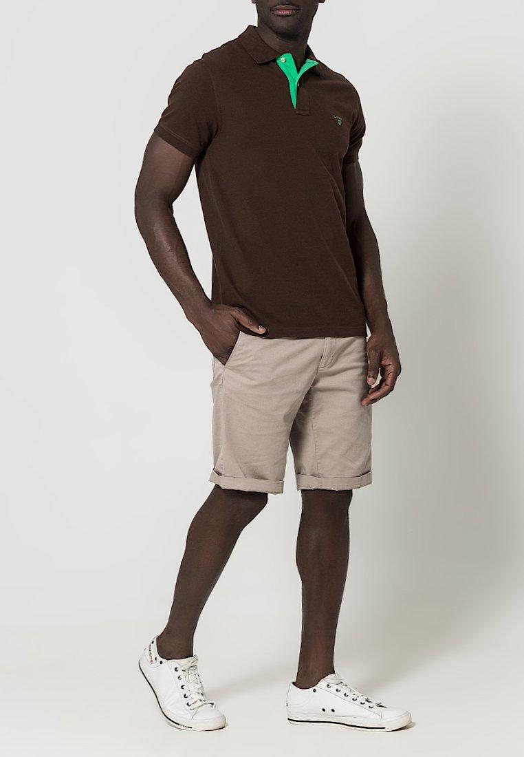GANT - CONTRAST COLLAR RUGGER - Pikeepaita - dark brown