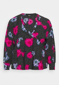 Simply Be - SMOCK BATWING SLEEVE  - Blůza - lilac floral - 0