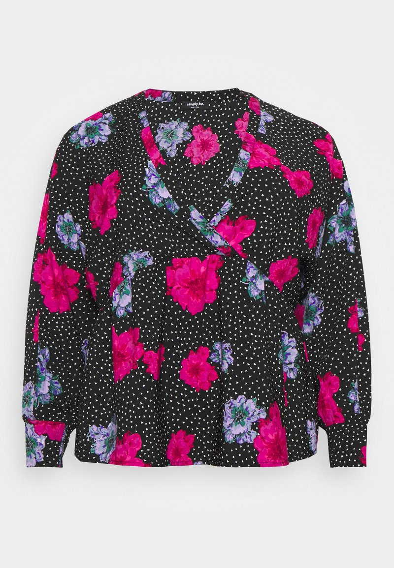 Simply Be - SMOCK BATWING SLEEVE  - Blůza - lilac floral