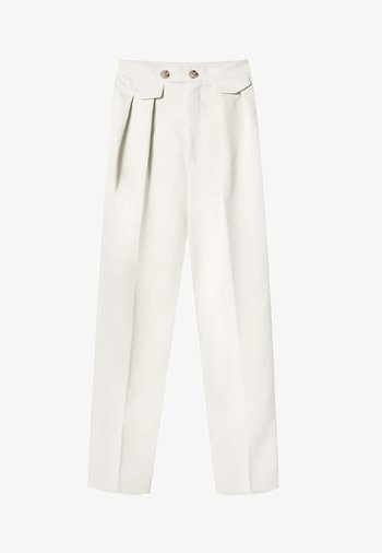 ELEGANTE KAROTTENHOSE - Trousers - mottled beige