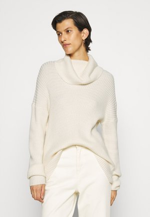 ONLKATIA COWLNECK  - Stickad tröja - whitecap melange