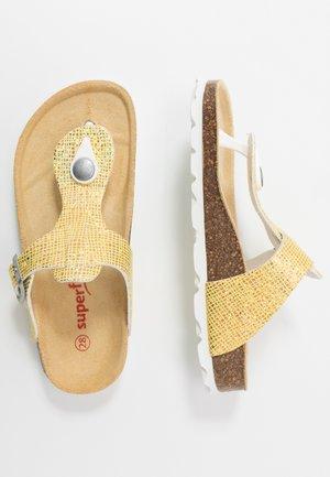 T-bar sandals - gelb