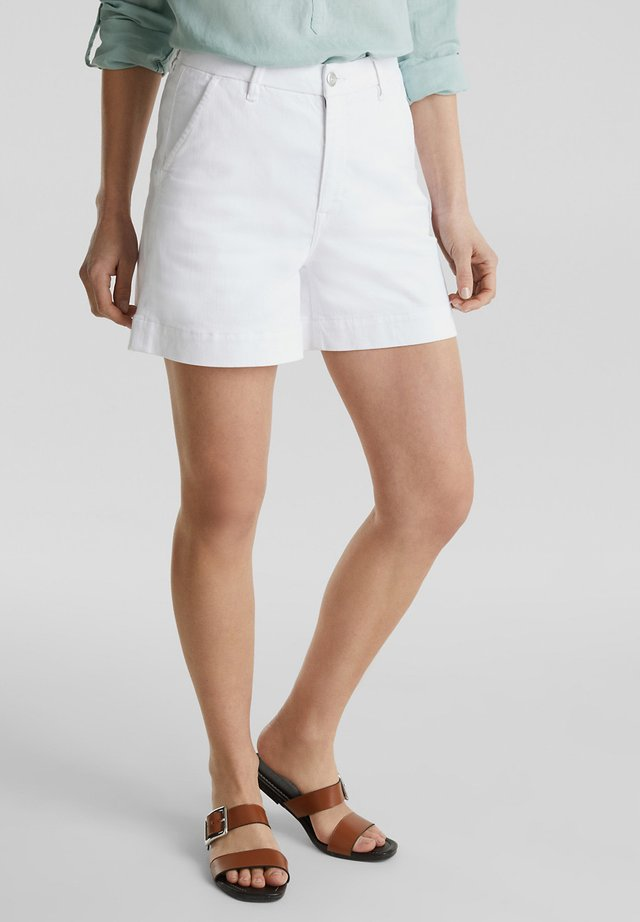Denim shorts - white