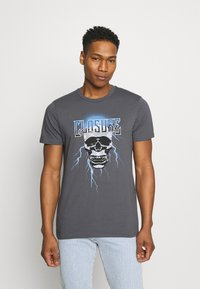 CLOSURE London - SKULL ROCK TEE - Print T-shirt - anthrazit - 0