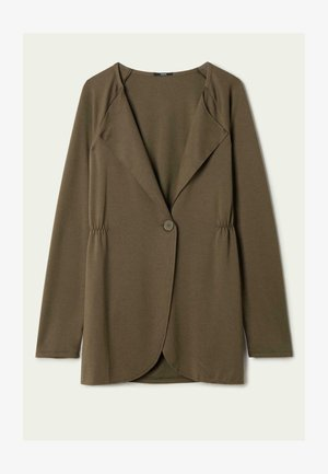 MIT KNOPF - Short coat - verde kaki