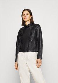 Oakwood - HARMONY - Leather jacket - black - 0