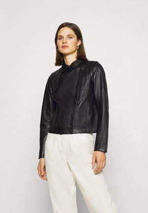 HARMONY - Leather jacket - black
