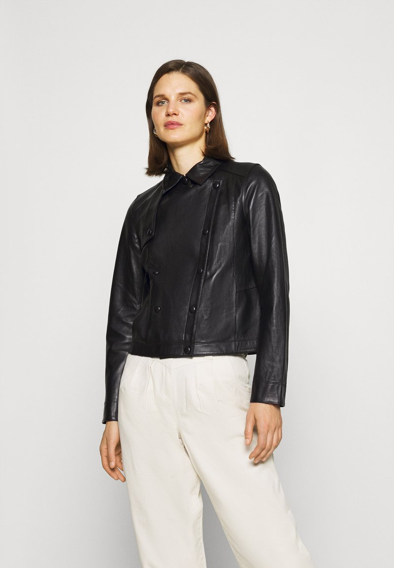 Oakwood - HARMONY - Leather jacket - black