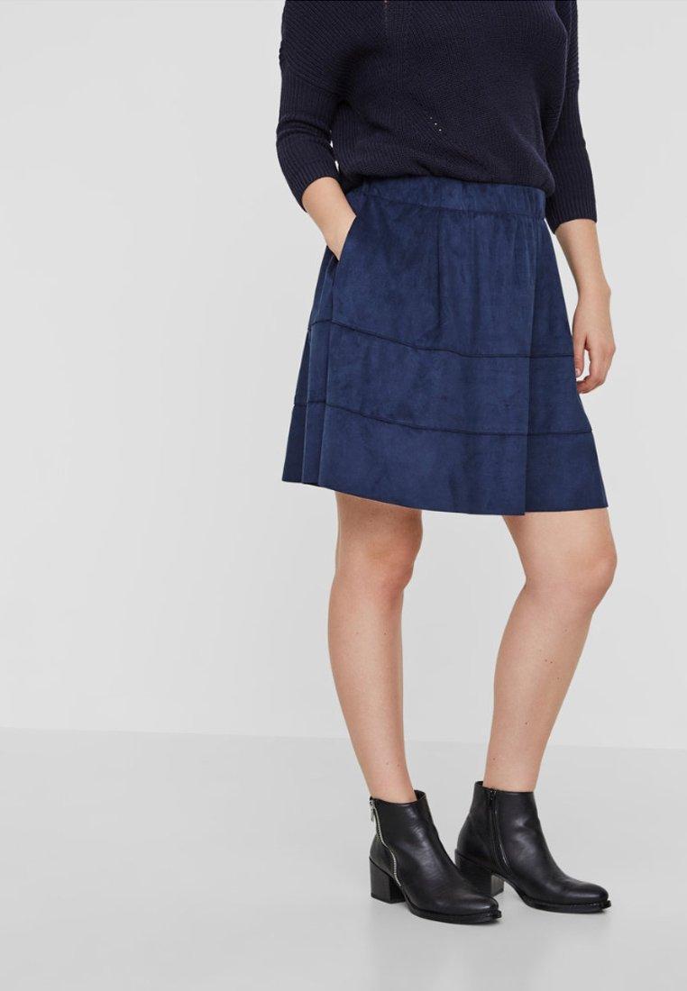 Noisy May - NMLAUREN  - A-line skirt - dark blue