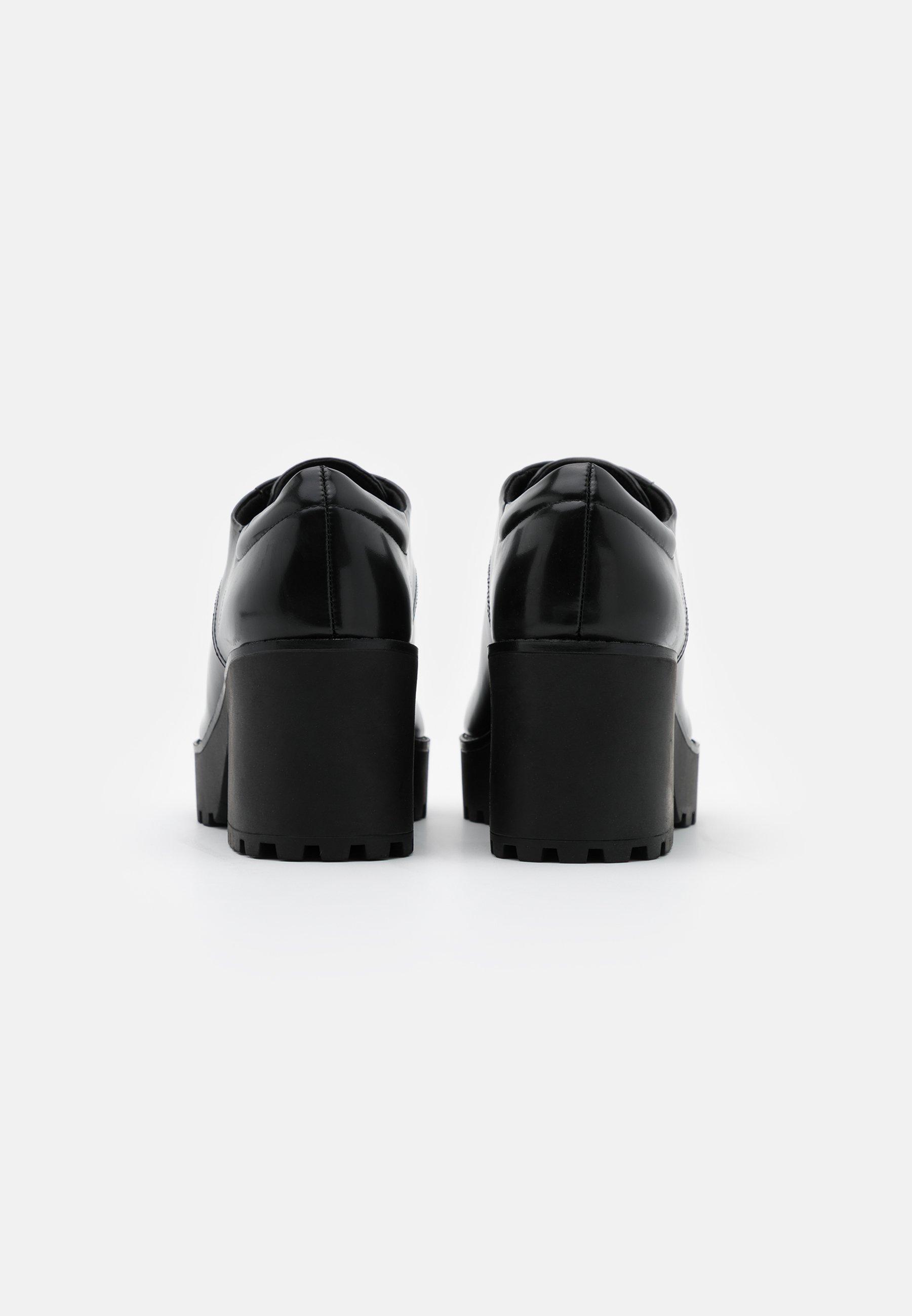 Women Lace-up heels - black