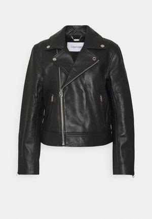 ESSENTIAL JACKET - Leather jacket - black