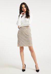 faina - Pencil skirt - beige - 1