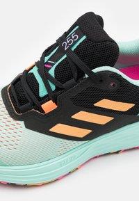 adidas Performance - TERREX TWO FLOW - Stabile løpesko - clear mint/hazy orange/screaming pink - 5