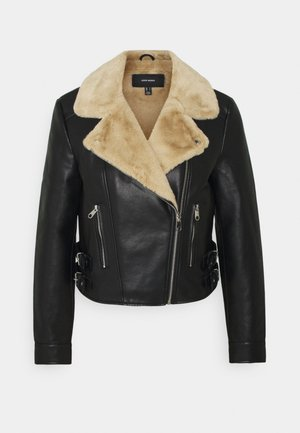 VMELLIEROSA SHORT JACKET - Faux leather jacket - black
