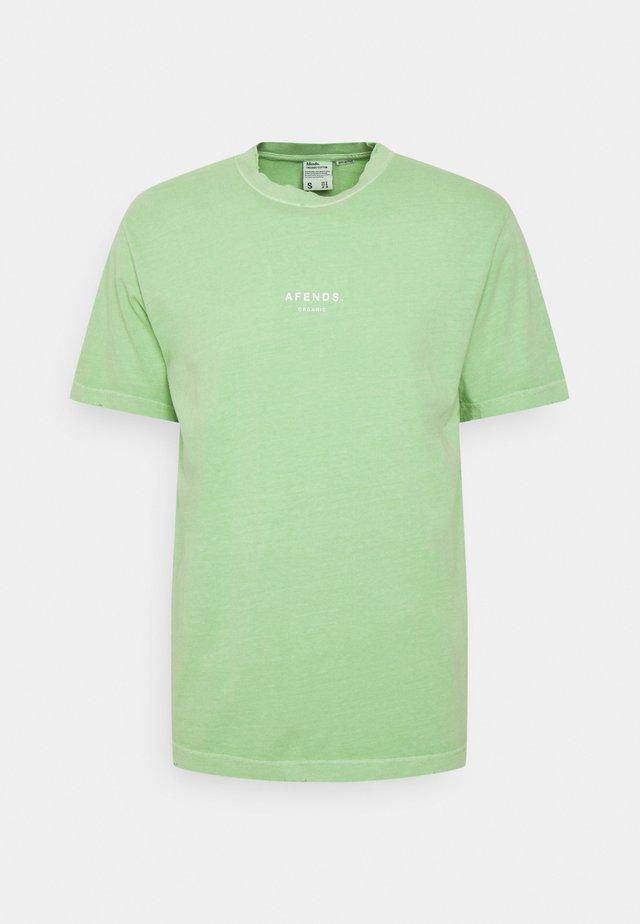 PREMIUM ORGANIC RETRO TEE UNISEX  - T-shirt print - lime