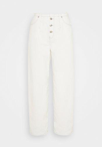 PANTS 5 POCKETS - Jean boyfriend - off-white