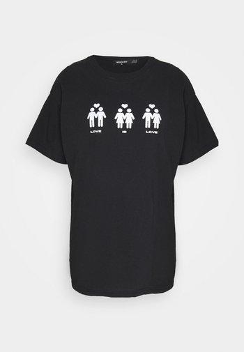 LOVE IS LOVE HUMAN - Print T-shirt - black