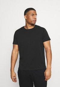 LTB - 3 PACK - Basic T-shirt - black/olive/grey melange - 5