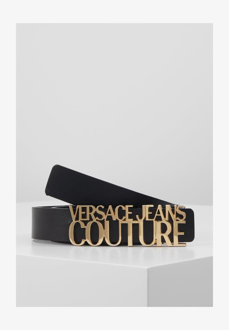 Versace Jeans Couture - BELT LETTERING - Pasek - nero
