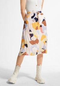 comma casual identity - A-line skirt - blush abstract geo - 0