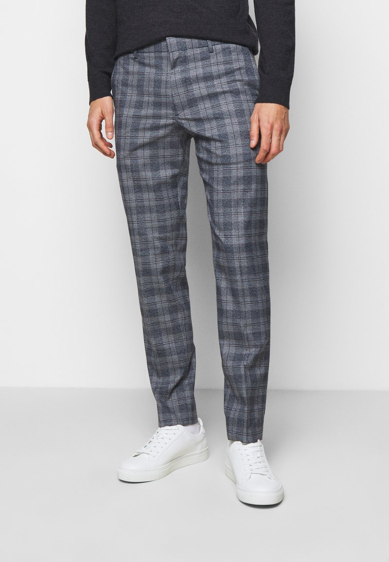 Club Monaco - SUTTON MEDIUM PLAID - Kalhoty - navy combo