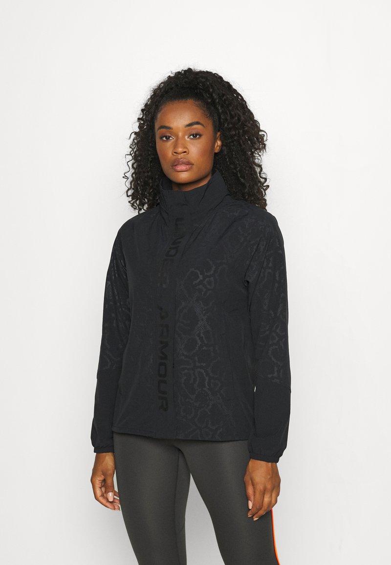 Under Armour - RUSH PRINT - Training jacket - black