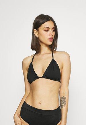 MELISSA GATHERED STRING TRIANGLE - Bikinitop - black