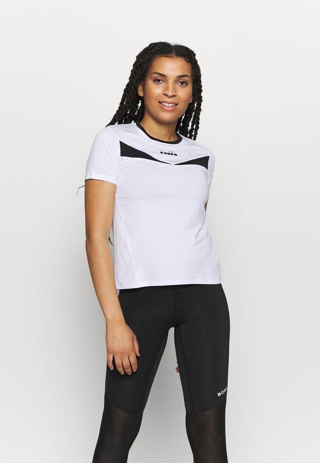 T-shirt print - optical white/black