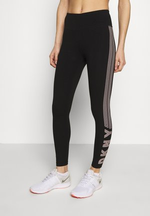 HIGH WAIST TRACK LOGO - Leggings - papaya