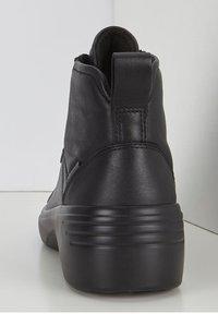ECCO - SOFT  - Lace-up ankle boots - black/black - 3