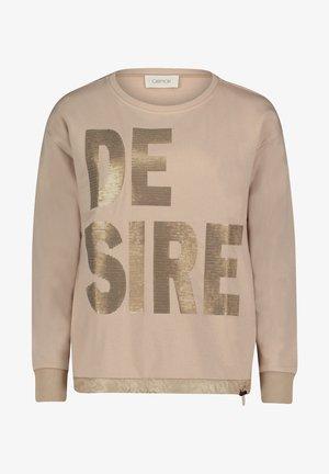 MIT PAILLETTEN - Sweatshirt - beige
