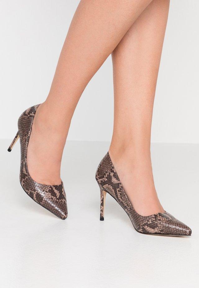 High heels - brown