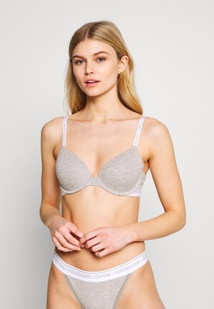 ONE LIGHTLY LINED DEMI - Push-up podprsenka - grey heather