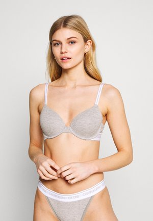 ONE LINED DEMI - T-shirt bra - grey heather