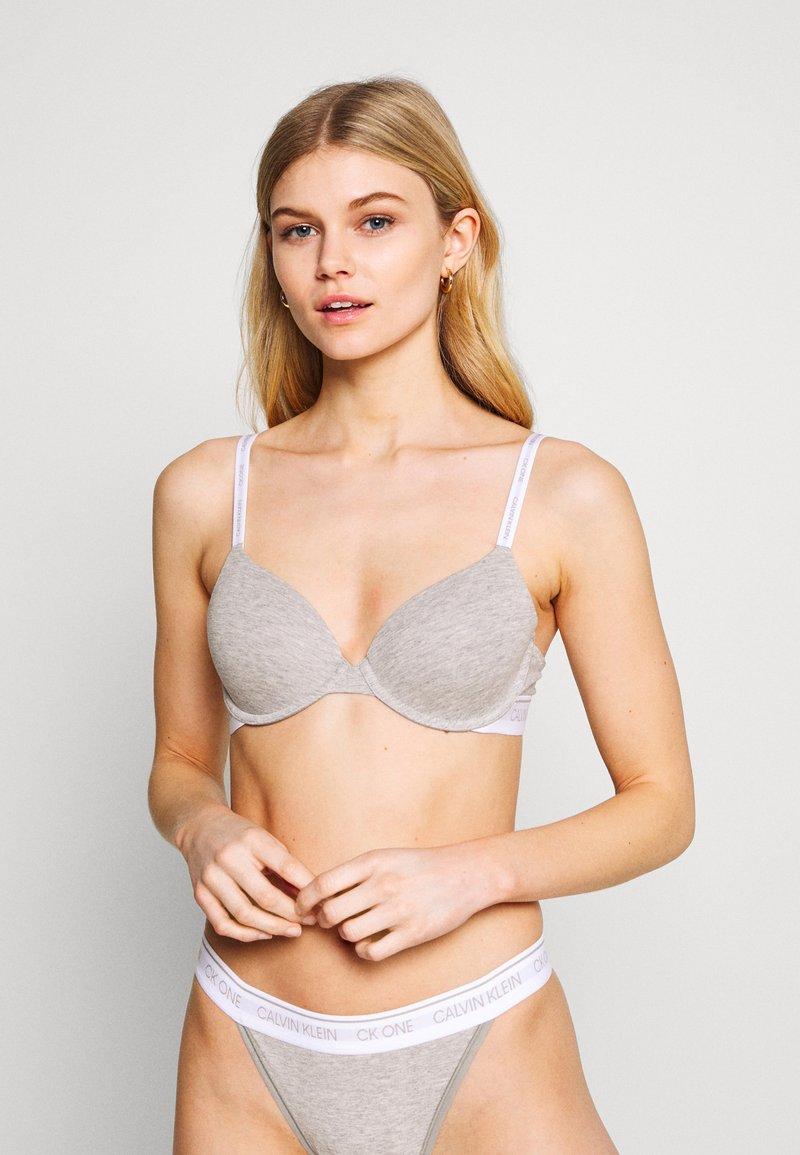 Calvin Klein Underwear - ONE LIGHTLY LINED DEMI - Reggiseno push-up - grey heather