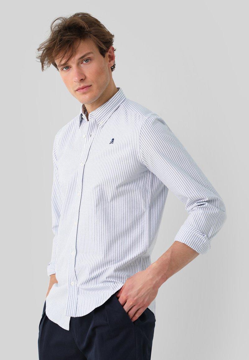 Scalpers - Shirt - skyblue stripes