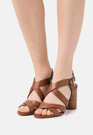 AMETHYS - Sandals - cognac