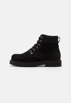 LACE UP MENS BOOT - Lace-up ankle boots - black