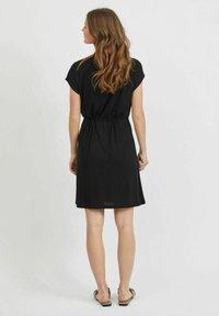 Vila - VIMOONEY STRING - Jersey dress - black - 2