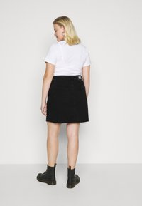 Dr.Denim Plus - ZIPPER SKIRT - Denim skirt - black - 2