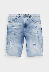 BECKER - Denim shorts - blue denim